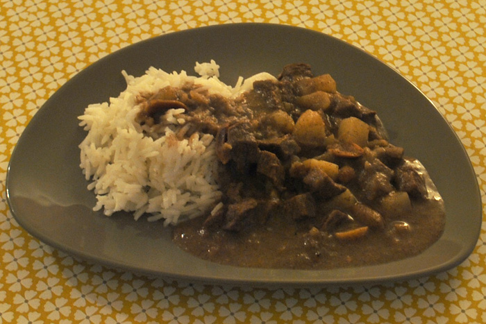 Curry de boeuf massaman