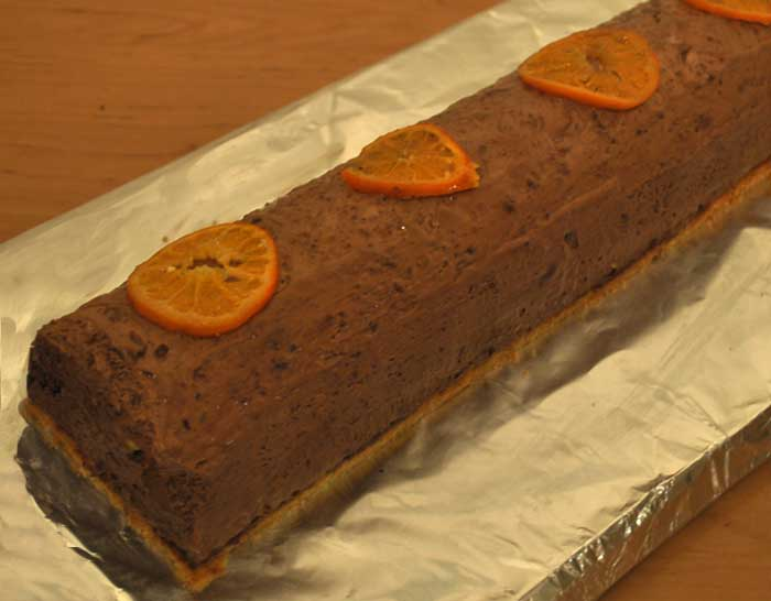 Bûche chocolat orange