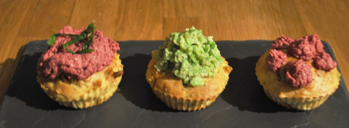 Cupcakes courgettes rose et vert